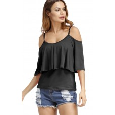 Angashion Women's Fashion Off Shoulder Tops Short Sleeve Blouse Casual T-Shirt